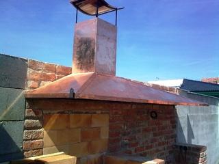 Konstruktion für Dach aus Kupferblech