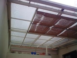 Aluminium-Vordach und farbe