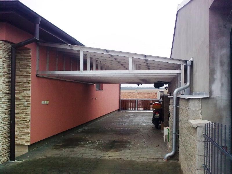 Konstruktion aus Aluminium für Dach
