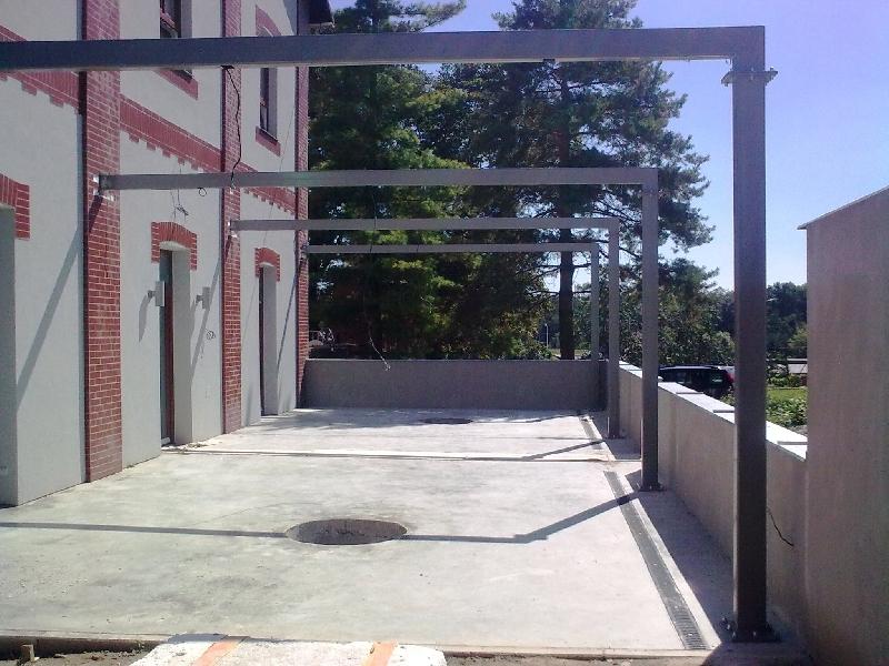 Konstruktion für Pergola verzinkt und Pulver-beschichtung