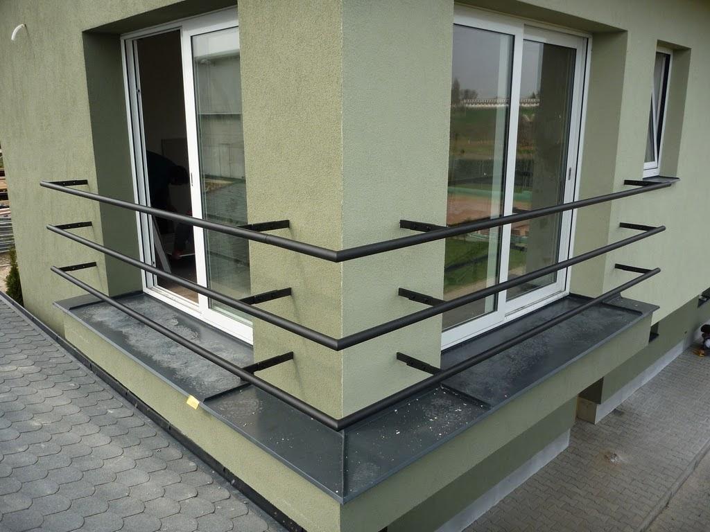 Geländer verzinkt und schwarz matt Farbe