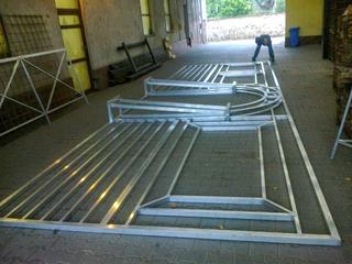 Aluminium-Konstruktion für Theater My Fair Lady
