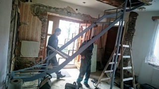 Der Bau der Treppe Holz