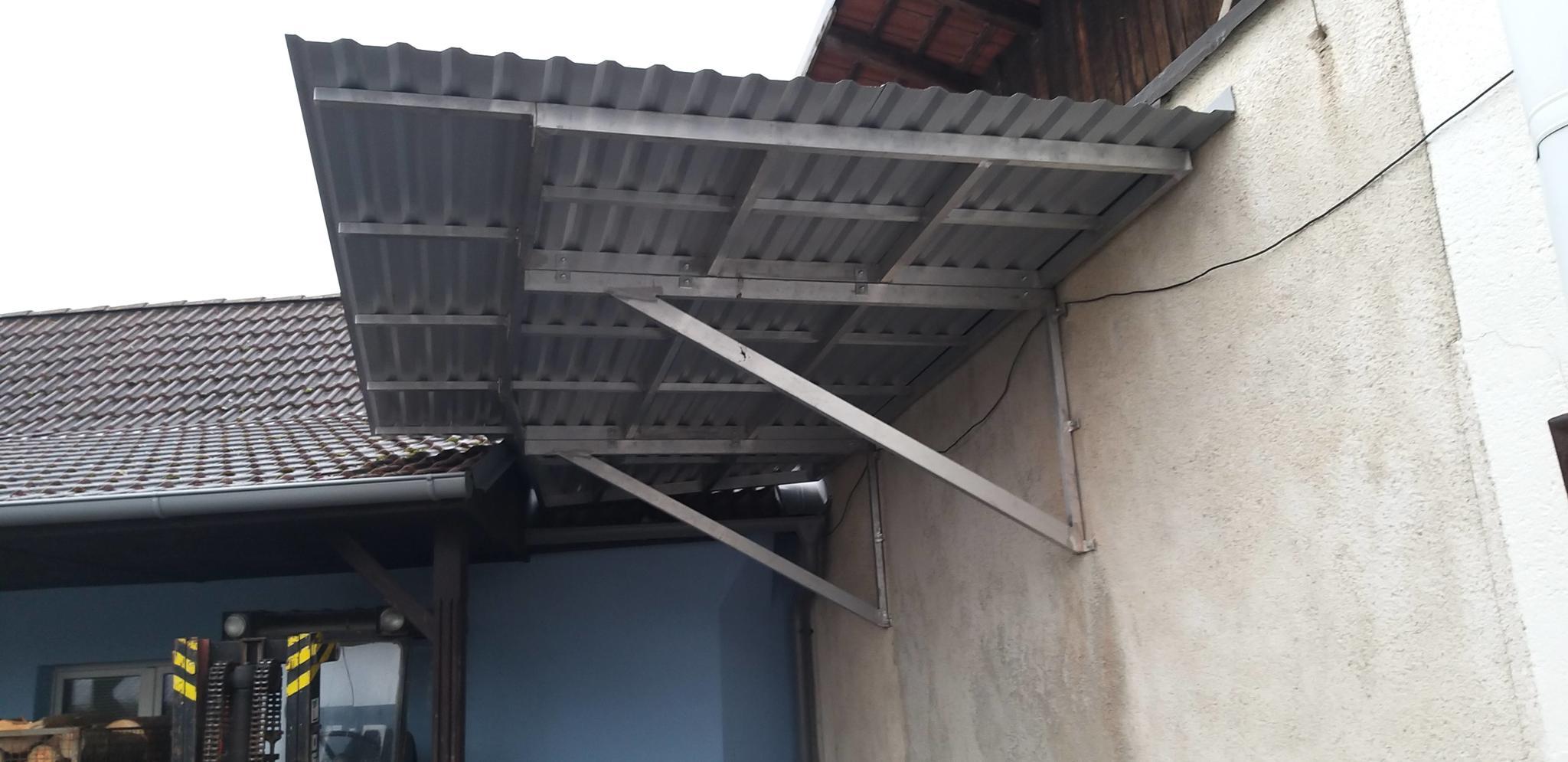Aluminum canopy construction