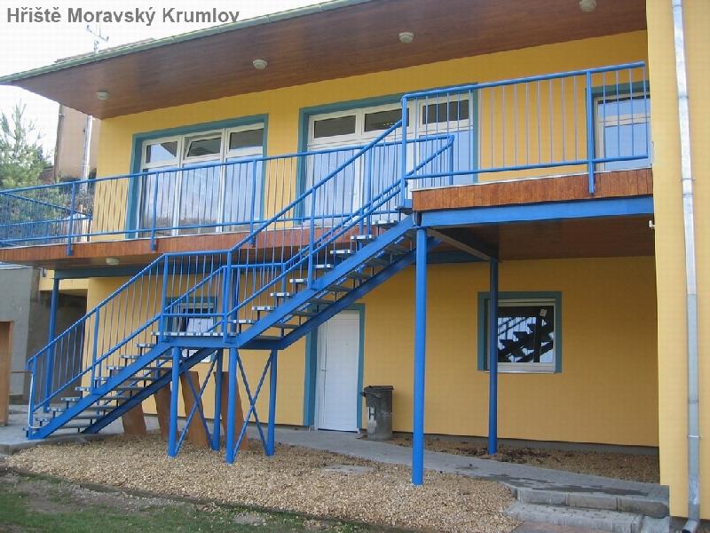 Schodiště fotbalové hřiště Moravský Krumlov