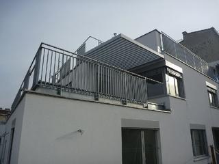 Zábradlí Hauptstrasse pozinkované a prášková barva