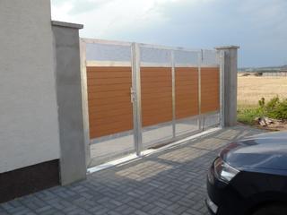 Brána pozinkovaná, tahokov prášková barva zinkový základ a Ral