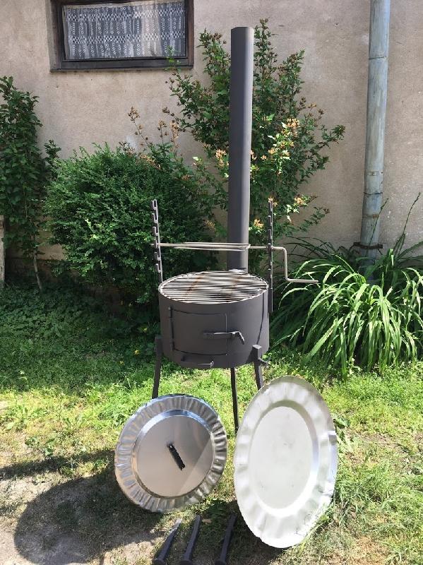 Kotlík na vaření na dřevo 4 v 1