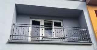Zábradlí balkonové kované, zinek, černá mat a patina
